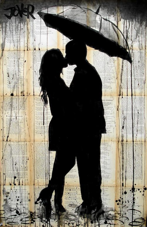 "Saatchi Art Artist: Loui Jover; Pen and Ink 2013 Drawing ""rain lovers"""
