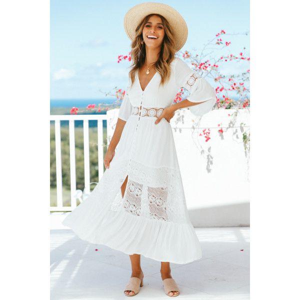 8f8f792f5734 Wish You The Best Maxi Dress White   Vacation ensambleś   White maxi ...