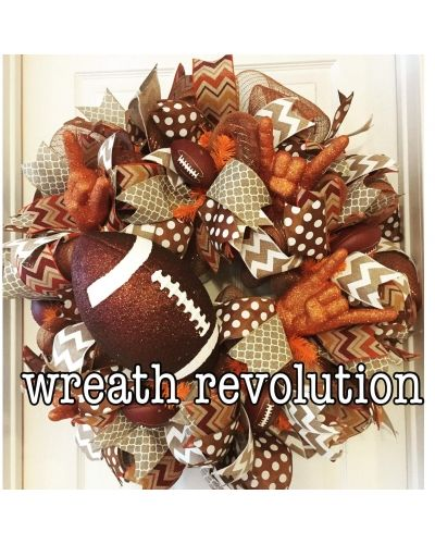 Hook em horns Texas wreath | CraftOutlet.com Photo Contest