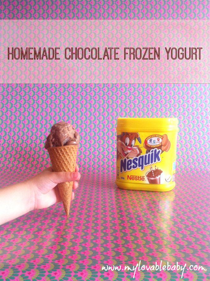My Lovable Baby: Delicious healthy: Μηχανικός παγωτών... με εξειδίκευση στο σπιτικό σοκολατένιο frozen yogurt
