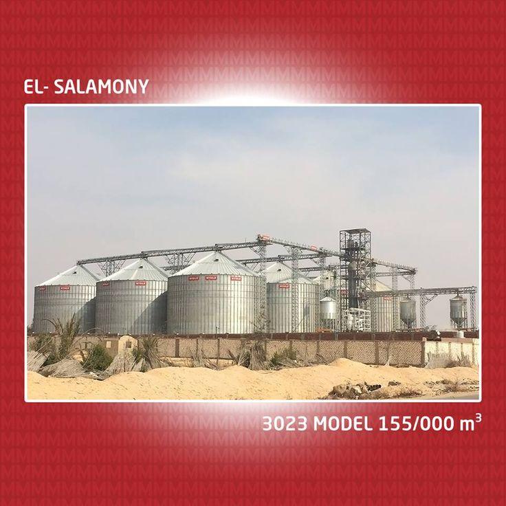 12 3023 مصنع صوامع نموذج El-Salamony, مع قدرة تخزين 155.000 m3 أكبر مشروع في مصر و الشرق الأوسط.