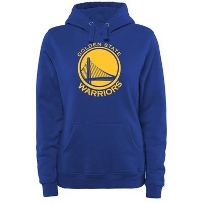 Golden State Warriors Women's Core Issued Personalized Name & Number Pullover Hoodie - Royal Blue