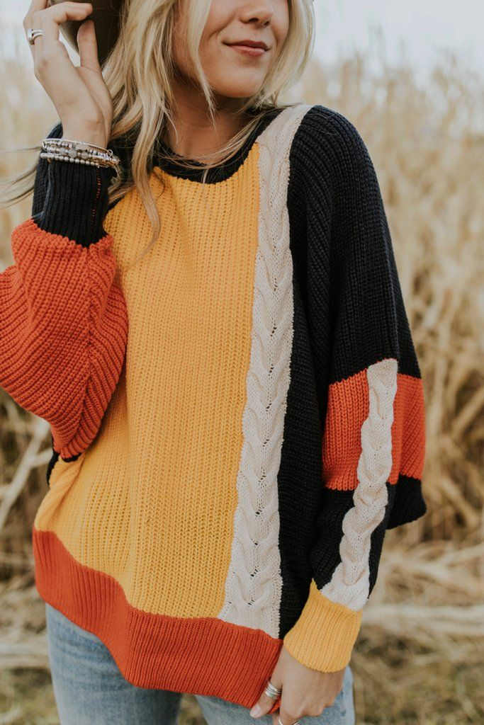 Crazy For You Colorblock Sweater in 2019
