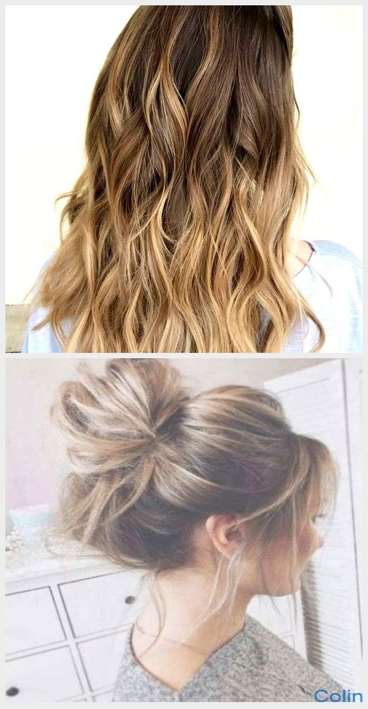 Moderne Frisur Fur Lange Haare Bun Gebundene Haare Am Skalp Balayage Dezent Ernahrun In 2020 Long Hair Styles Hair Styles Beauty