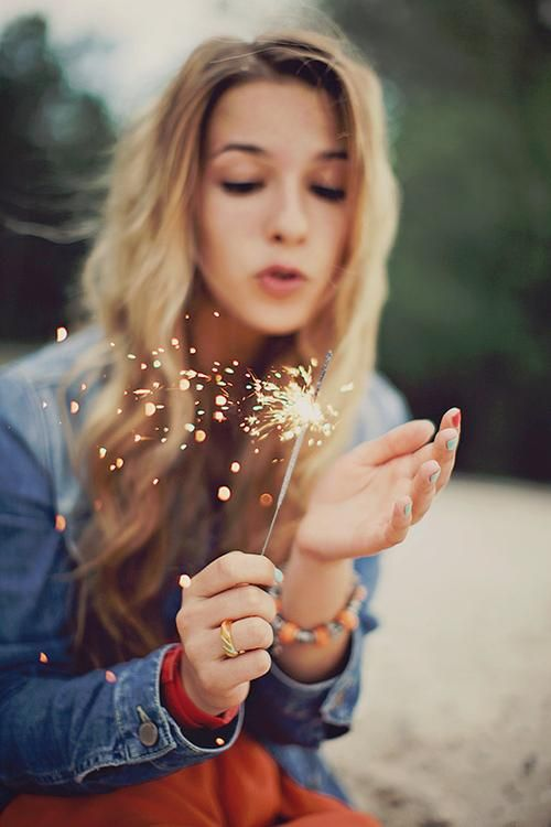 Gotta love sparklers. Good thing 4th of July is almost here!