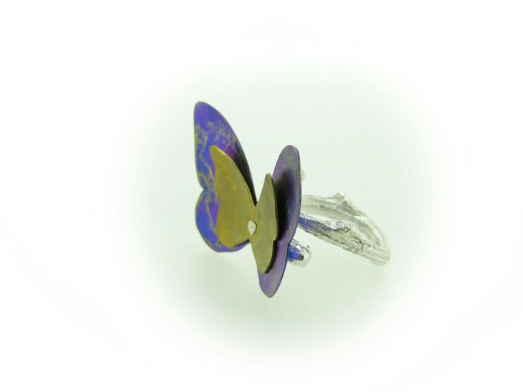 Butterfly titanium ring.