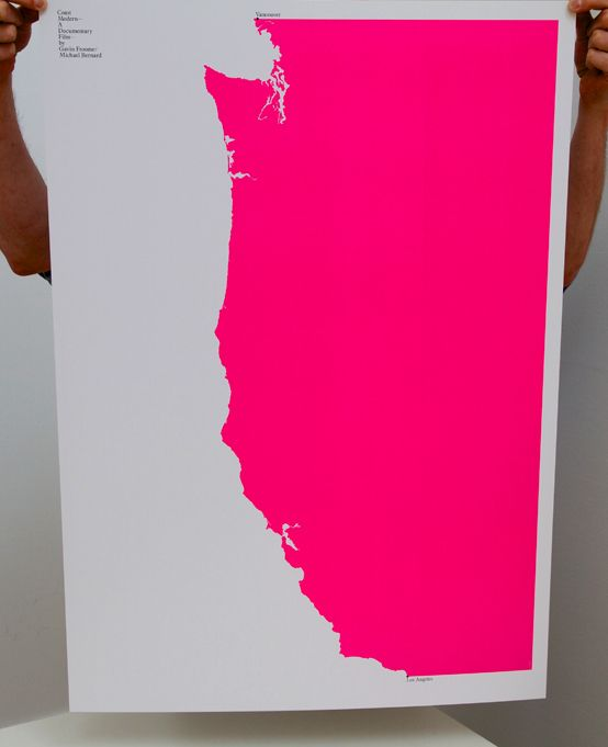 BUILD™ Poster - West Coast: Bold Color, Art Prints, Graphics Design, Hot Pink, Building Poster, West Coast, Film Poster, Westcoast, Art Pieces