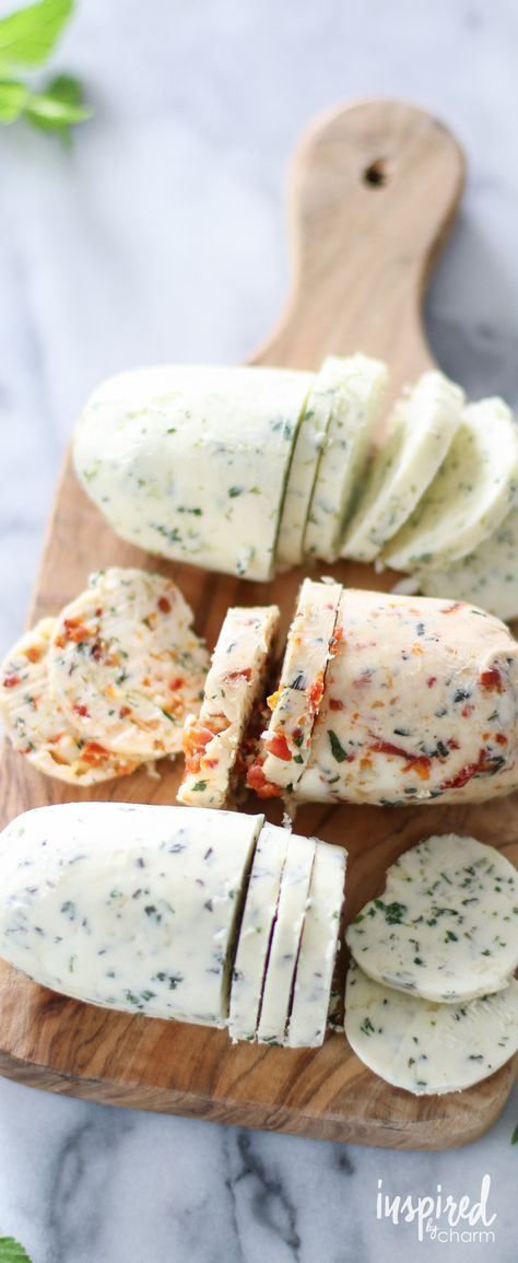 Homemade Herb Butters - great for adding fresh flavor to your cooking!