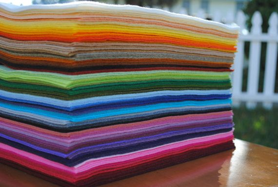 12 x 18 Wool Blend Felt Sheets 6 pieces Your by ifeltsprightly