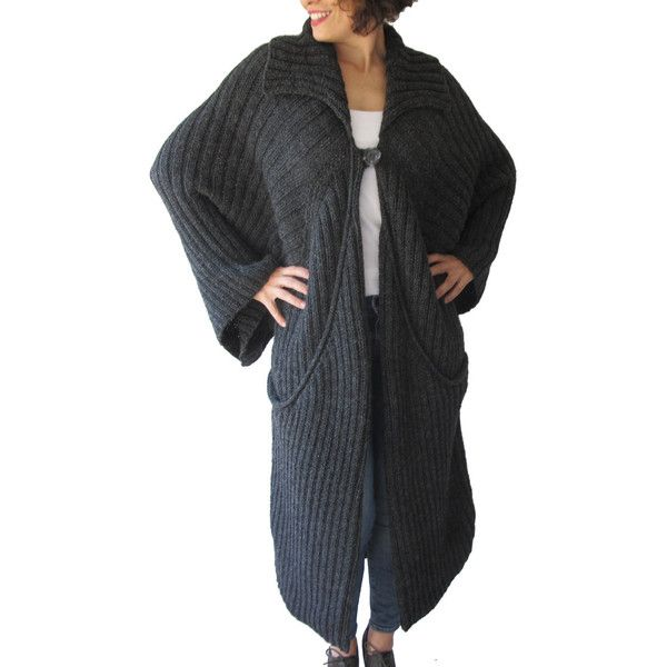 Winter Maxi Coat Cardigan With Big Pockets by Afra Plus Size Over Size (195 NZD) ❤ liked on Polyvore featuring tops, cardigans, grey, sweaters, women's clothing, plus size tops, women plus size tops, oversized cardigan, plus size oversized cardigan and plus size maxi tops