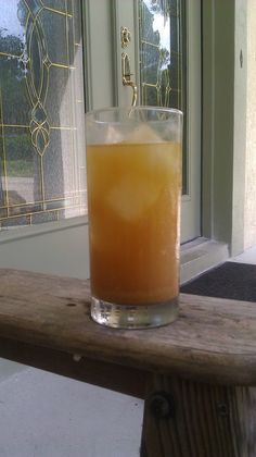 Homemade ginger ale .. fermented, good for digestion, a great way to help ease off a soft drink habit.
