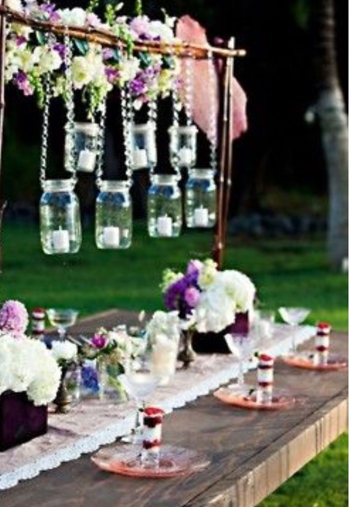 366 best wedding planning images on pinterest planning a diy home decor hanging mason jars with candles inside them can turn ordinary evening meals into romantic ones junglespirit Gallery