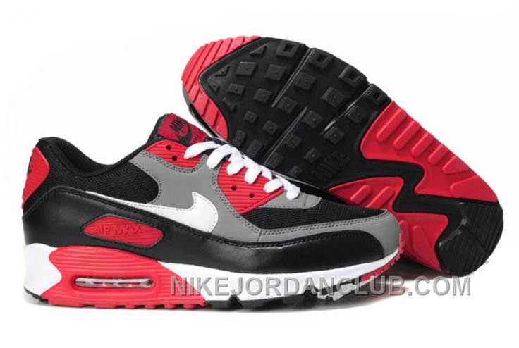 http://www.nikejordanclub.com/cheap-nike-air-max-90-mens-running-shoes-on-sale-the-black-grey-red-white-kyx4t.html CHEAP NIKE AIR MAX 90 MENS RUNNING SHOES ON SALE THE BLACK GREY RED WHITE KYX4T Only $96.00 , Free Shipping!