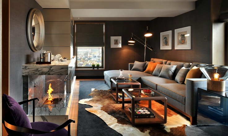 The effortlessly understated chic of the Belgraves' Penthouse private lounge area in London