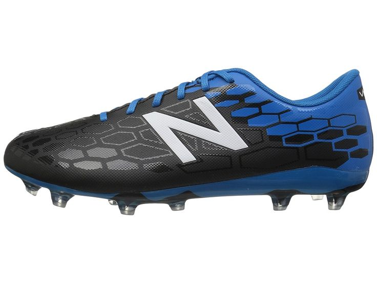 New Balance Kids JSVRCFv2 Soccer (Little Kid/Big Kid) Boys Shoes Black/Bolt