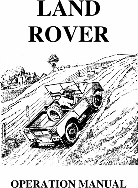 #LandRover : Workshop Manuals / Operation Manuals for download