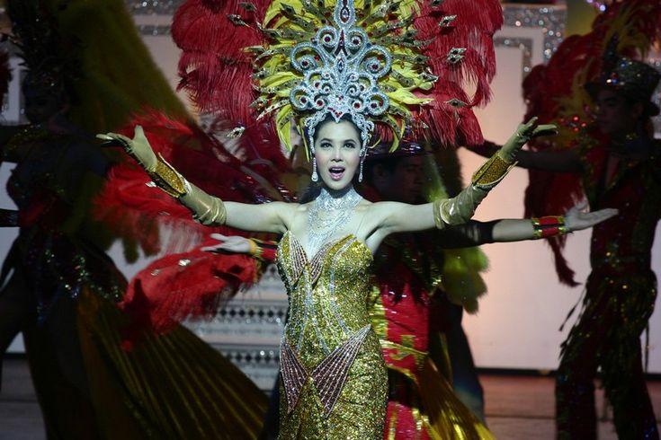 Thai Ladyboy at Alcazar cabaret in Thailand.