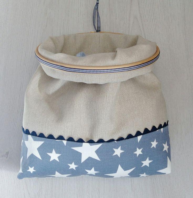 Hooola Hoy toca tutorial: el de esta bolsa hecha con un bastidor, que queda la mar de mona y sirve para guardar y tener organizado lo que...