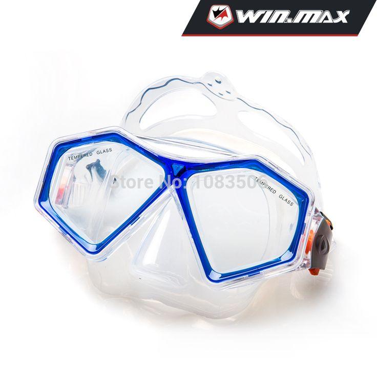 Winmax дайвинг снаряжение для подводного плавания регулируемый ремень силиконовые лицо юбка и ремень закаленное стекло дайвинг маска