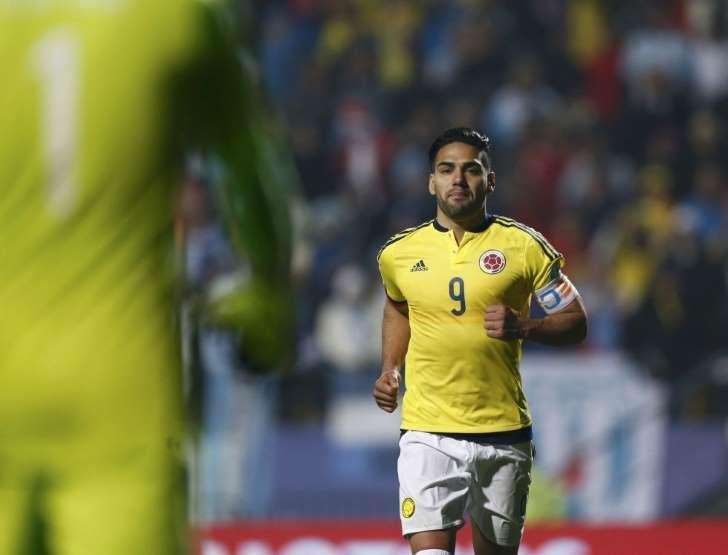 El delantero Radamel Falcao, durante un partido de la Selección de Colombia.