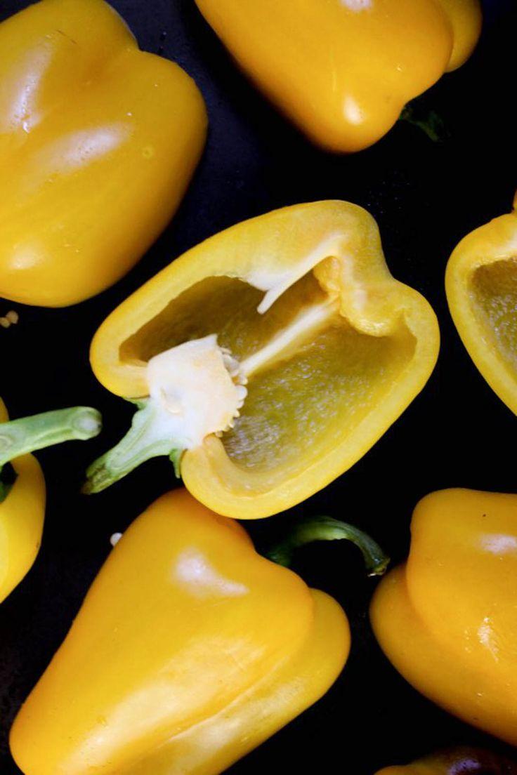 Paprika med fetaost och ägg