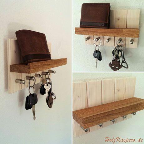 Schlüsselboard Schlüsselbrett Eiche Keyholder Keys Holzkaspero