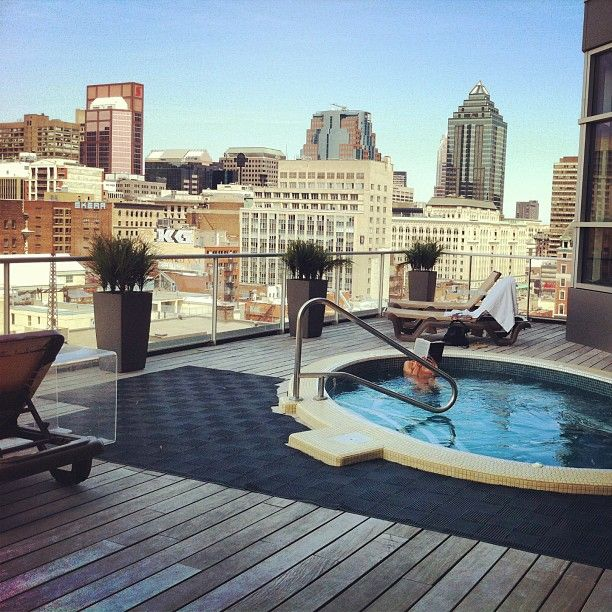 Hôtel Le Crystal. Worth the price of admission alone: the rooftop FOUR SEASON JACUZZI