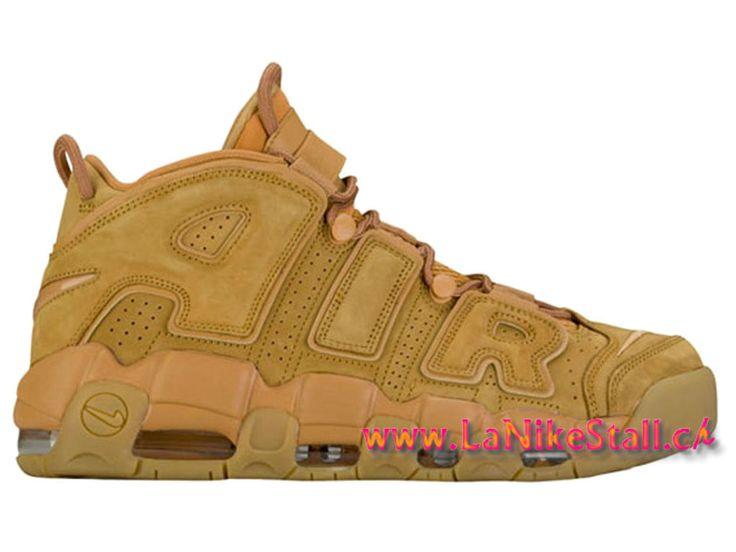 "Nike Air More Uptempo ""Wheat"" Officiel Basket Pas Cher Chaussures Pour Homme Brun AA4060-200"