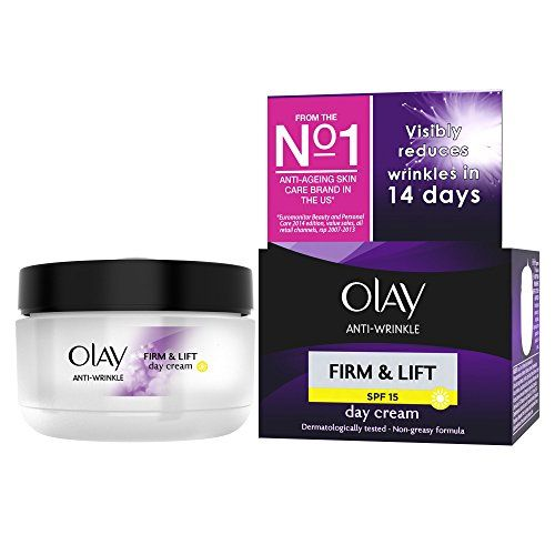 From 4.59:Olay Anti-wrinkle Firm And Lift  Spf 15 Anti-ageing Day Cream Moisturiser 50 Ml