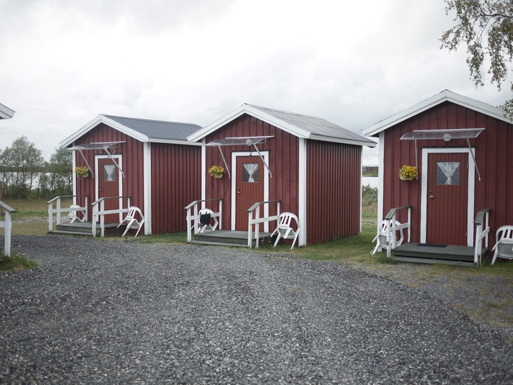 Red & white swedish huts