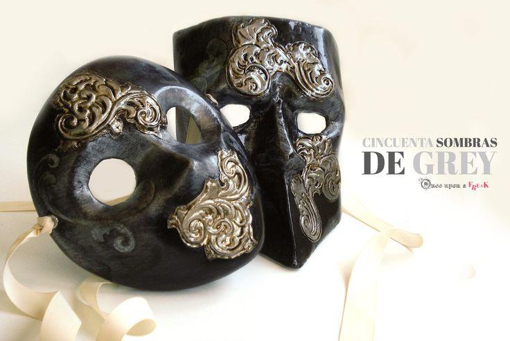 Máscara veneciana 50 sombras de Grey Si nos hubieran encargado a nosotras el diseño   estas serian las máscara que llevarían Anastasia y Grey.