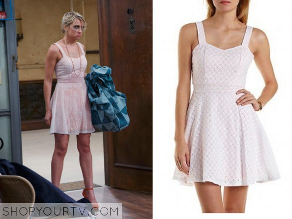 Baby Daddy: Season 4 Episode 22 Riley's Pink Flare Dress