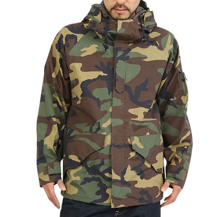 New US Army Cold Wet Weather ECWCS Gen1 Woodland  Parka Jacket  #HST #Military