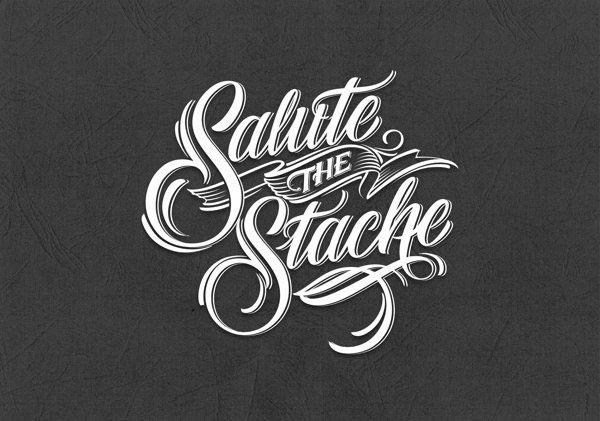 Logo calligraphique réalisé à la main pour Salute The Stache.
