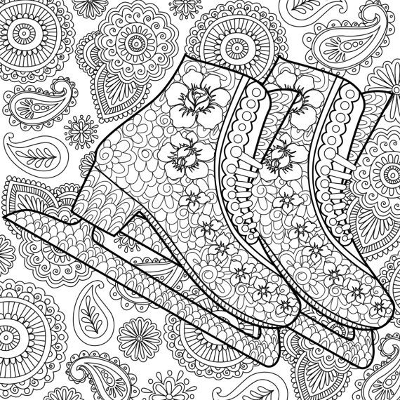 162 Best Images About Shoes Coloring Pages For Adults On Pinterest