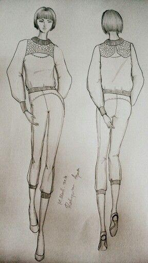 SCHOOL TASK #fashionillustration #fashionsketch