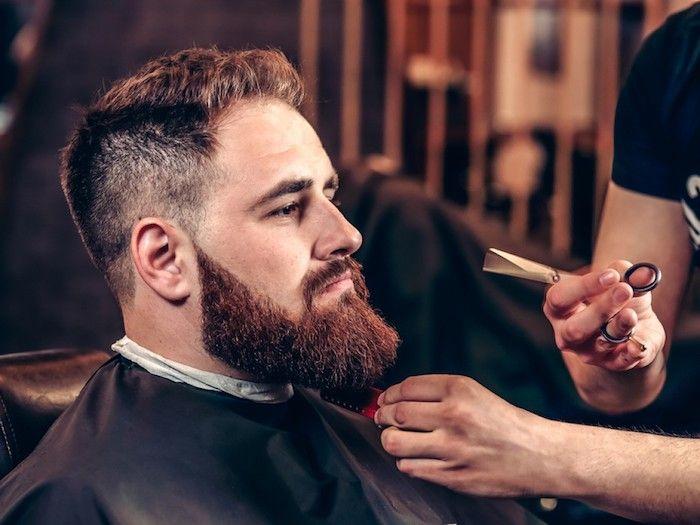 bart grau färben frisur für bart schere barbier besuchen