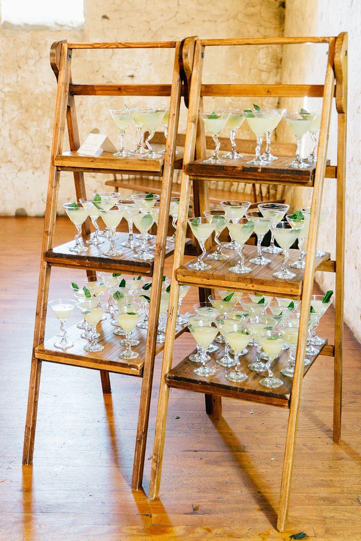 wedding drinks - http://ruffledblog.com/lush-green-wedding-with-a-boho-twist