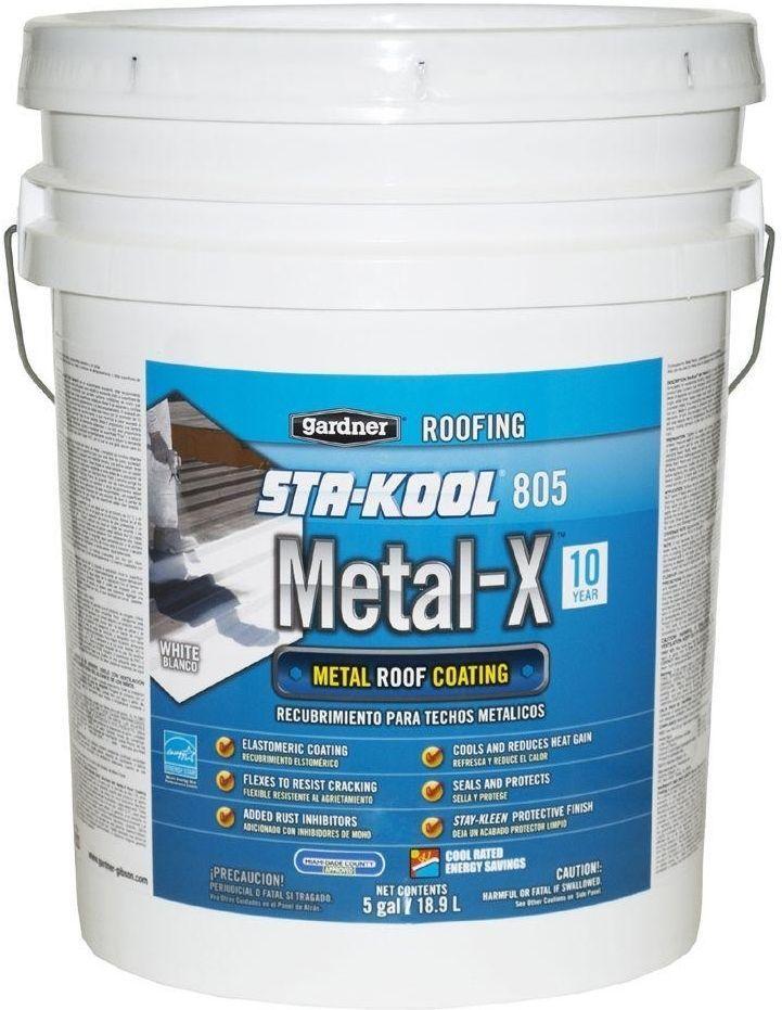 White Elastomeric Sta-Kool Metal Roof Surface Sealant Rust Protectant Coating #Gardner
