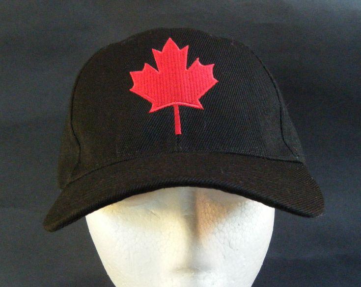 Black Canada Canadian Red Maple Leaf Flag Hat BaseBall Ball Cap #baseballcap #baseballhat #canada #redmapleleaf #cap #hat #canandahat #canadamapleleaf  #ilovecanada