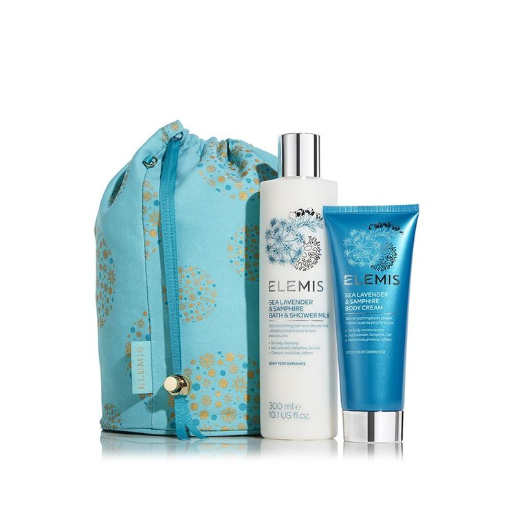 Sea Lavender and Samphire Body Beautiful, available on ELEMIS.COM this Christmas. The Sea Lavender & Samphire Experience BENEFITS: Cleanses, Nourishes, Moisturises Take a gentle journey towards skin that is recharged by the wonders of the ocean.
