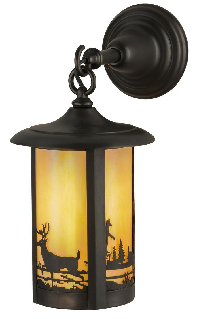 7.5 Inch W Fulton Deer Creek Hanging Wall Sconce. 7.5 Inch W Fulton Deer Creek Hanging Wall Sconce Theme:  RUSTIC LODGE ANIMALS Product Family:  Fulton Deer Creek Product Type:  WALL SCONCES Product Application:  ONE LIGHT Color:  BAI CRAFTSMAN Bulb Type: MED Bulb Quantity:  1 Bulb Wattage:  100 Product Dimensions:  15H x 7.5W x 11.5DPackage Dimensions:  NABoxed Weight:  4 lbsDim Weight:  30 lbsOversized Shipping Reference:  NAIMPORTANT NOTE:  Every Meyda Tiffany item is a unique…
