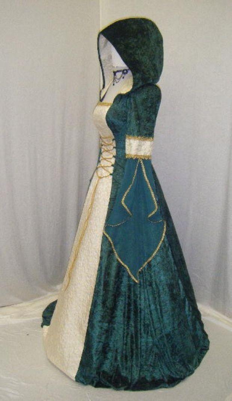 Celtic wedding dress Renaissace medieval  custom made