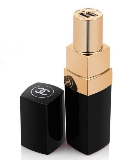 Chanel Coco Inspired Lipstick Portable Phone Charger (ISO & Android) £30:
