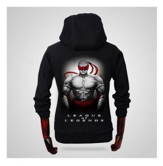 League of Legends Lee Sin mens zip up hoodies personalized sweatshirts