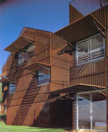 Pinterest the world s catalog of ideas - Architectuur staal corten ...