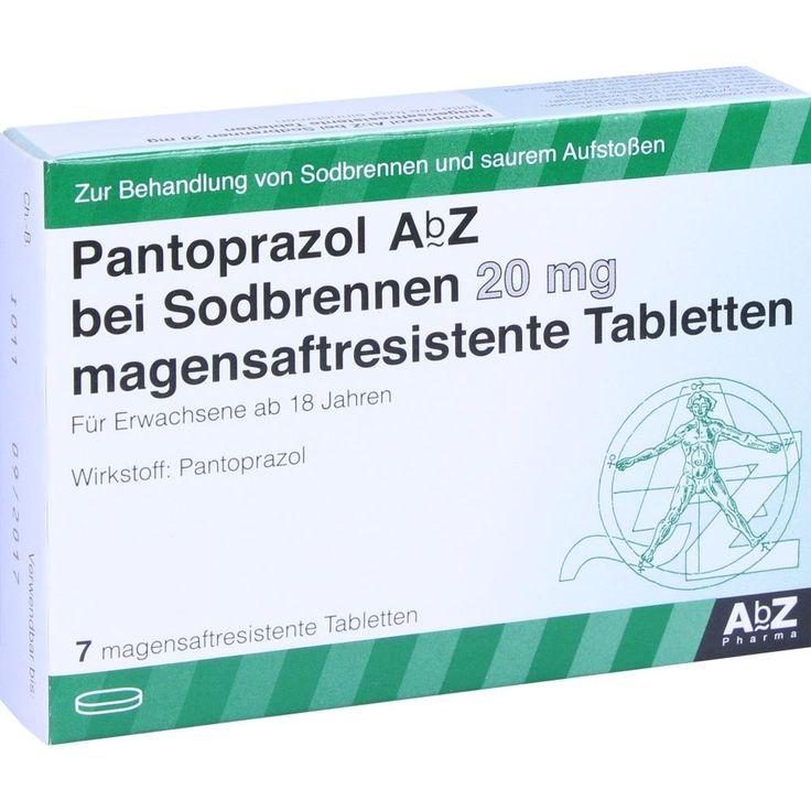 PANTOPRAZOL AbZ bei Sodbrennen 20 mg msr.Tabletten:   Packungsinhalt: 7 St Tabletten magensaftresistent PZN: 10397837 Hersteller: AbZ…