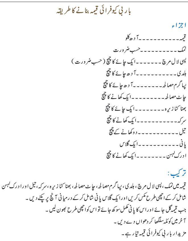 Bbq Qeema Recipe In Urdu Keema Recipes Gosht Recipe Recipes