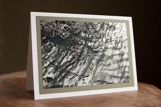Fine Art Greeting Card Blank 5 x 7 Tracks by AudreyKerchnerstudio, $5.00