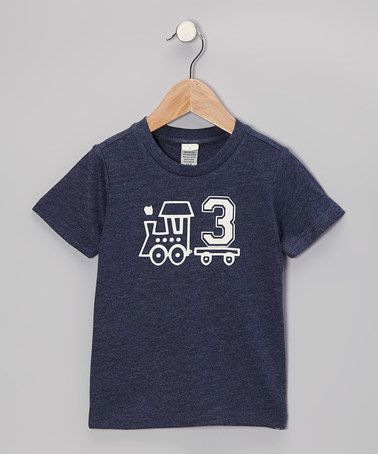 Take a look at this Navy Train Personalized Number Tee - Infant, Toddler & Boys by Bourbon Street Boutique on #zulily today!